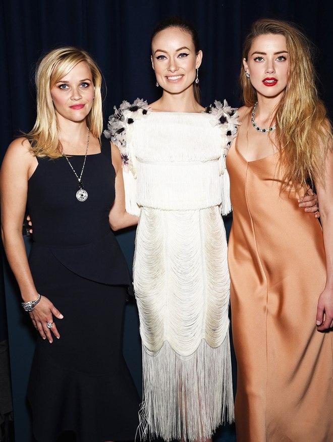 Три девицы под окном: Риз Уизерспун, Эмбер Херд и Оливия Уайлд показали роскошные украшения