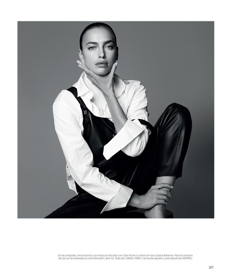 Внимание, разгадка: роскошная Ирина Шейк в фотосессии для Vogue Spain - полный сет