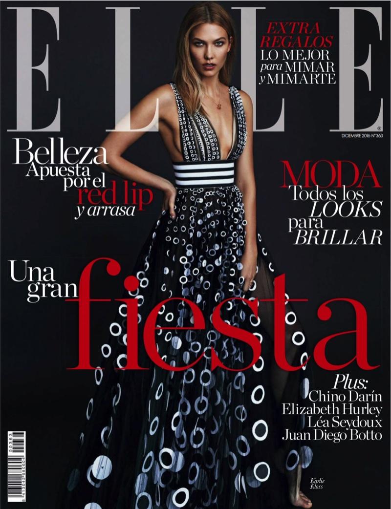 Женственность и стиль: Карли Клосс в нарядах Carolina Herrera позирует на страницах журнала ELLE Карли Клосс фото, Карли Клосс