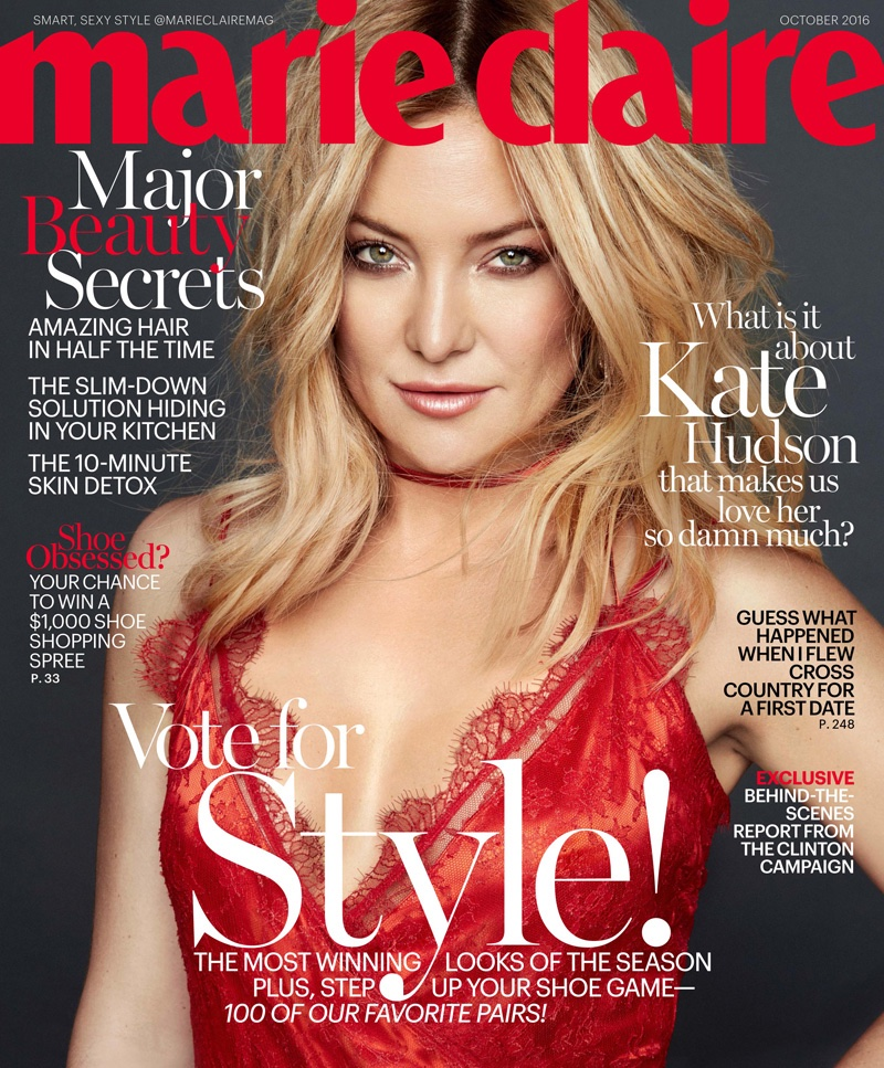 Соблазнительная Кейт Хадсон позирует для октябрьского выпуска Marie Claire (ФОТО)