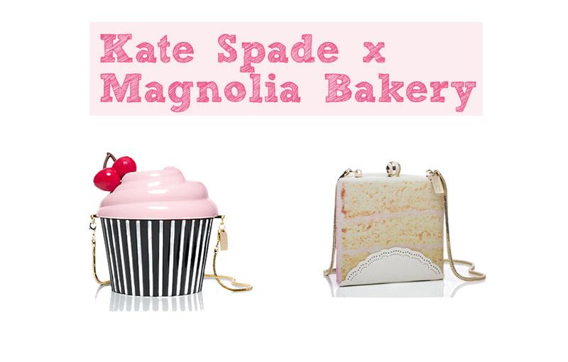 """самая """"сахарная"""" коллекция аксессуаров от дизайнера Kate Spade и кондитерской Magnolia Bakery"""