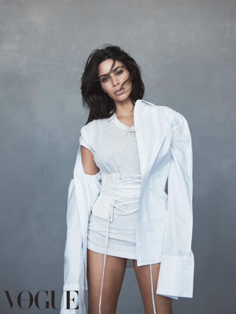 Первые кадры: Ким Кардашьян в фотосессии для Vogue Австралия июнь 2016