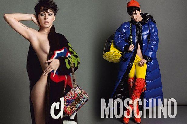 Новые кадры: яркая Кэти Перри позирует в нарядах Moschino