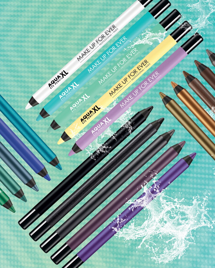 Глаза-раскраски: новая коллекция ярких карандашей для глаз Charlie XCX Aqua XL от Make Up For Ever
