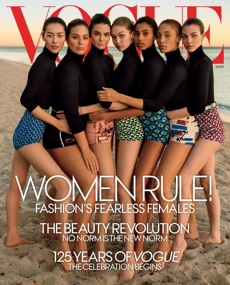 Скандал с фотошопом в Vogue: На обложке появились слишком отретушированные Эшли Грэм и Джиджи Хадид Джиджи Хадид фото, Эшли Грэм фото