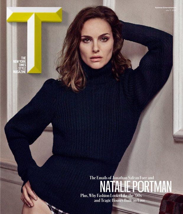 женственная Натали Портман позирует в нижнем белье для T Magazine фото