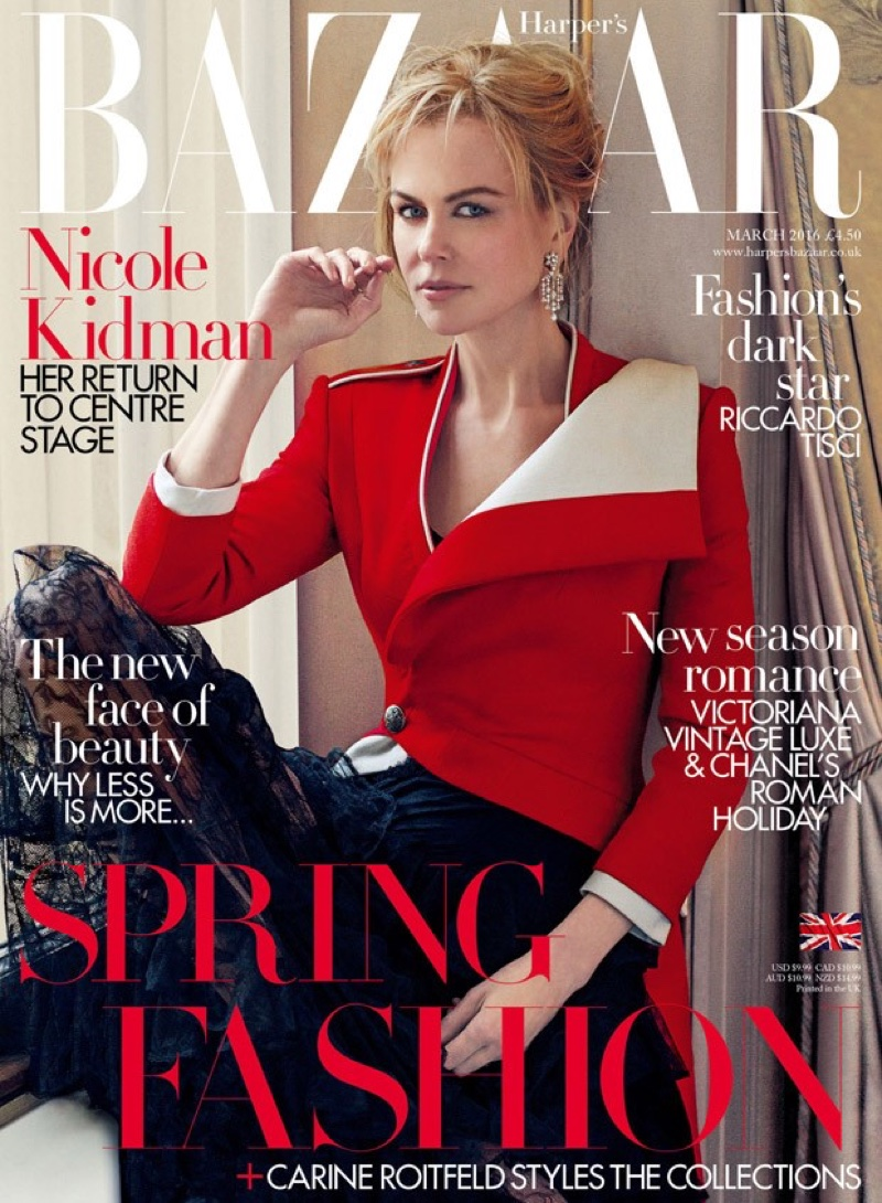 Явные тайны: первые фото Николь Кидман из мартовского номера Harpers Bazaar UK