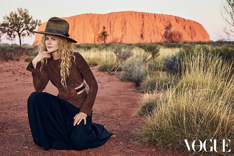 Душа прерий: Николь Кидман позирует для Vogue и рассуждает об отношениях с мужем