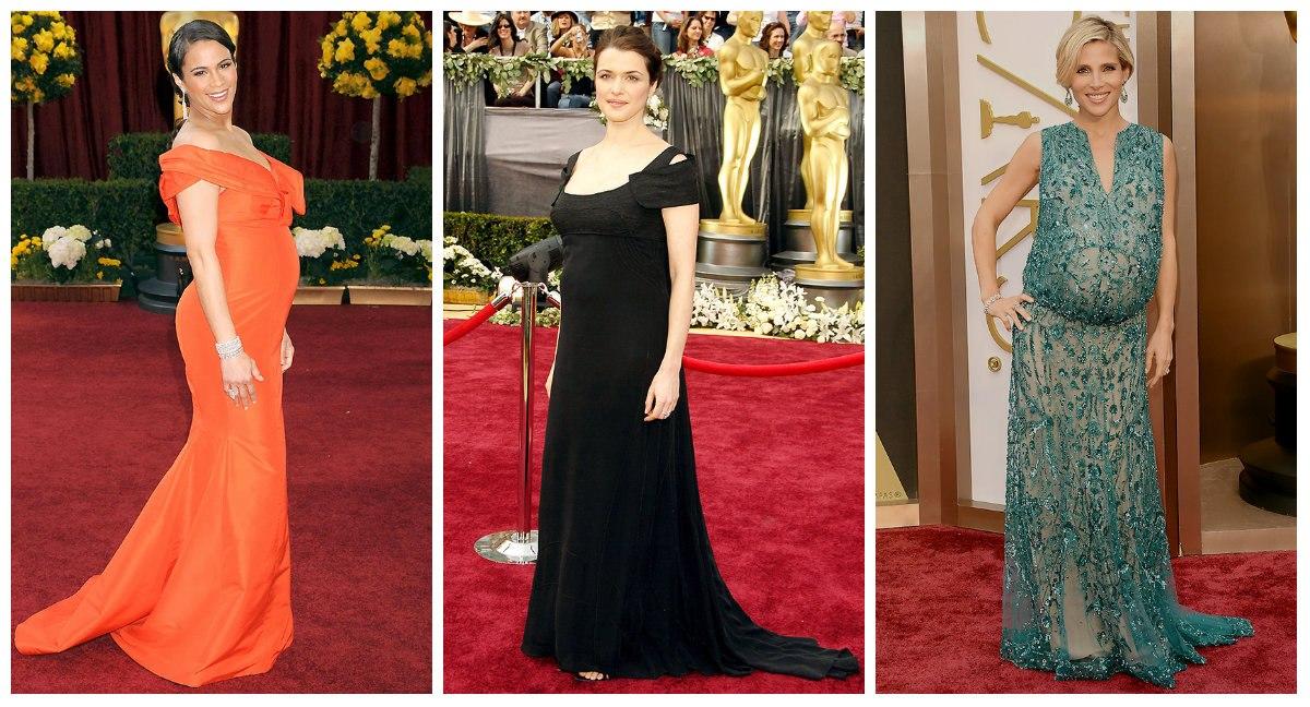 Роскошные: стильные образы беременных знаменитостей за всю историю Оскара