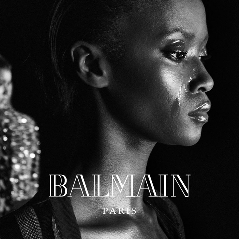 в кампании Balmain осень-зима 2016