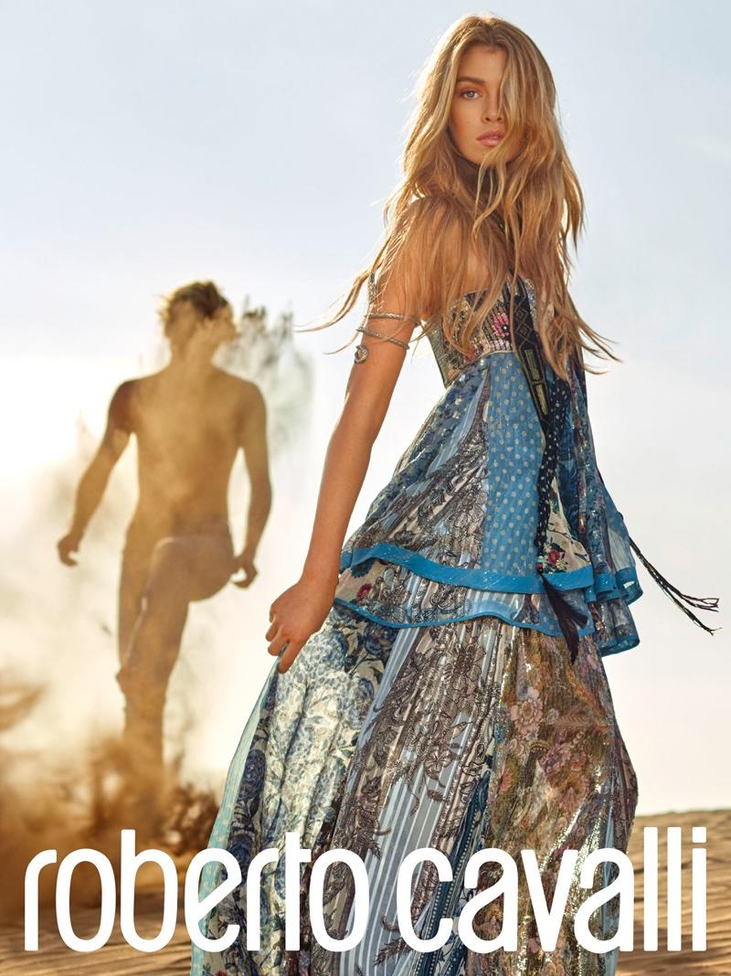 Стелла Максвелл в новой рекламной кампании Roberto Cavalli (ФОТО)