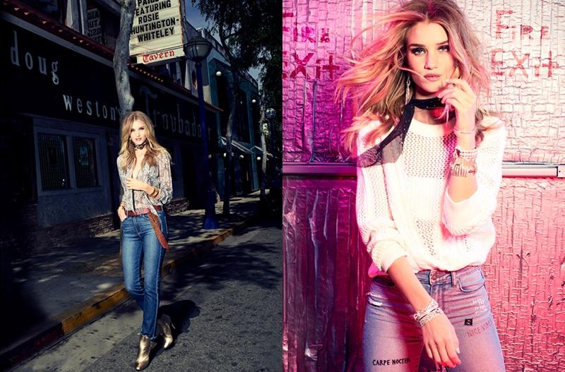 Роузи Хантингтон-Уайтли похвасталась красотой и стройностью в новой рекламной фотосессии (ФОТО)