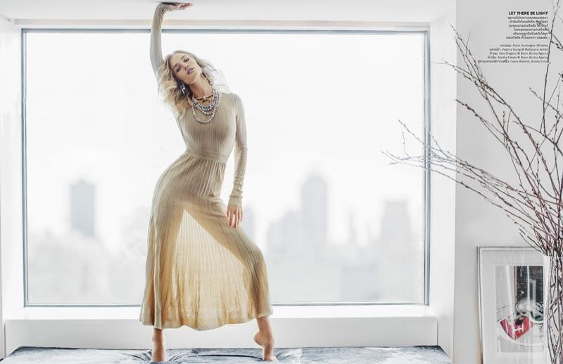 Джейсон Стэтхэм, женись: Рози Хантингтон-Уайтли в чувственной фотосессии для Vogue Таиланд