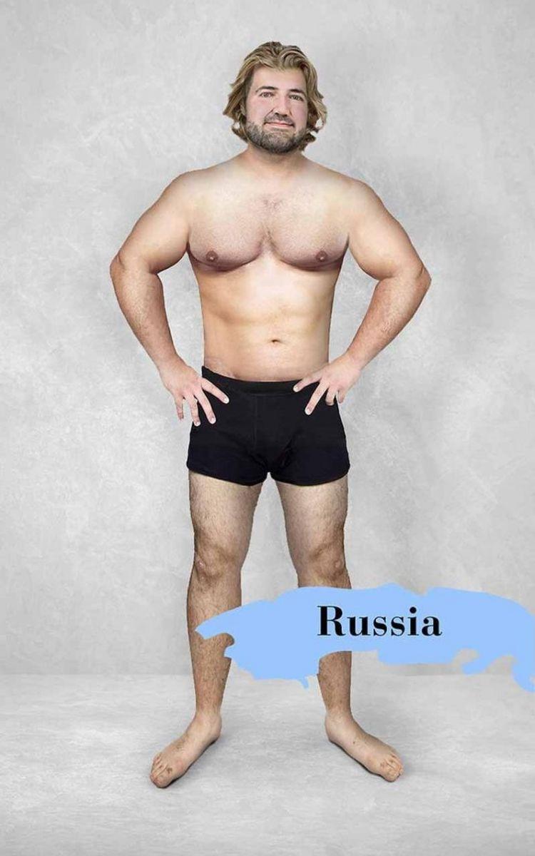 Ретушеры из разных стран обработали фото мужчины согласно национальным стандартам красоты