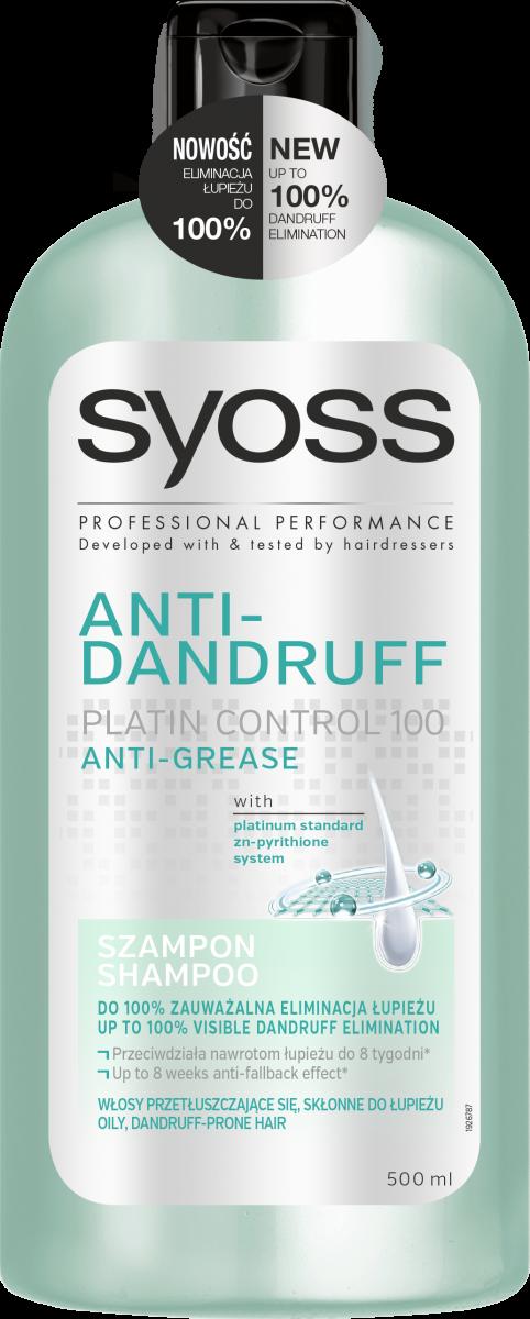 Профессиональный уход за кожей головы: специальная серия против перхоти Syoss Anti-Dandruff Platin Control 100