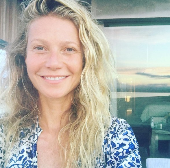 44-летняя Гвинет Пэлтроу показала лицо без макияжа (ФОТО)