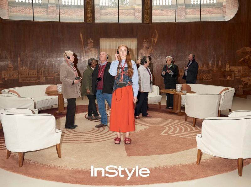 """Санса Старк: актриса сериала """"игра престолов"""" Софи Тернер в новой фотосессии для InStyle"""