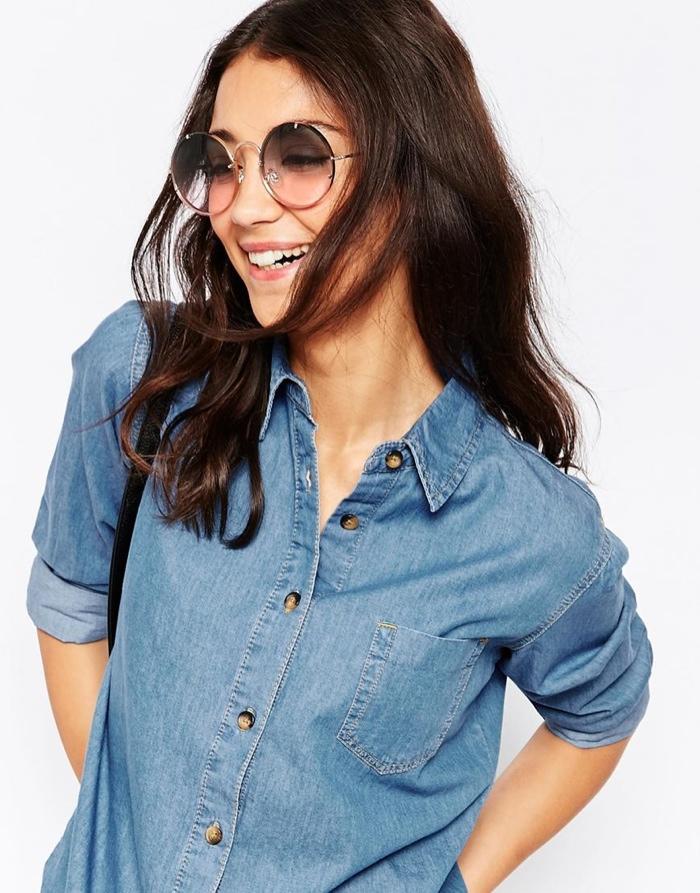 Круглые солнцезащитные очки с тонкой металлической оправой Spitfire