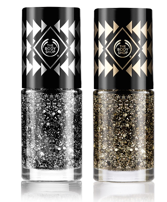 рождественская коллекция макияжа Swinging Silver & Grooving Gold 2015 от The Body Shop