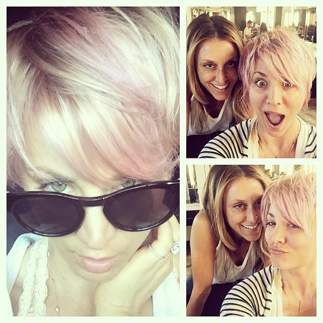 Фотофакт: еще одна роскошная блондинка резко сменила имидж