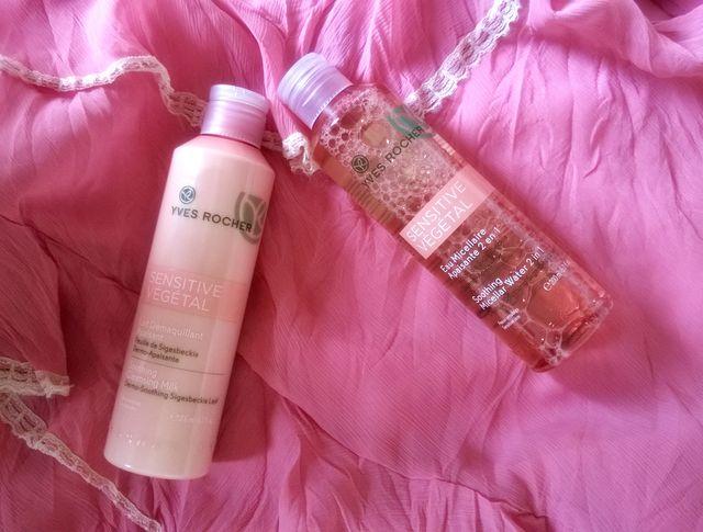 Sensitive Vegetal от Yves Rocher  - молочко для снятия макияжа и мицеллярная вода 2в1