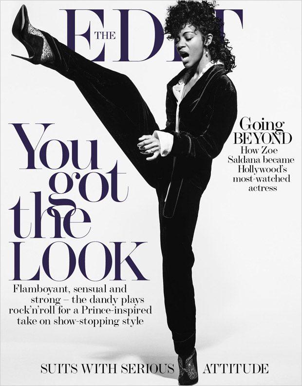 Сногсшибательная Зое Салдна примерила образ для Принса для Edit Magazine фото