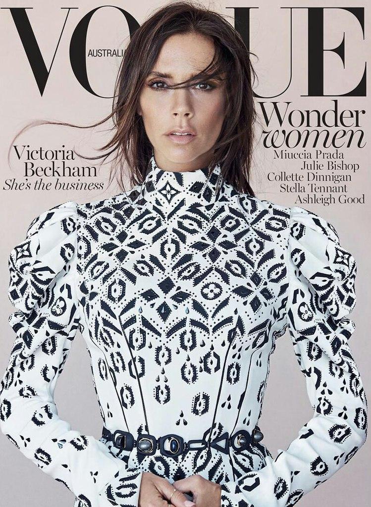 Женственная Виктория Бекхэм украсила обложку модного издания