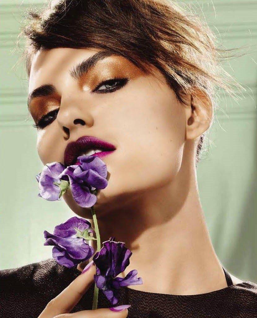Лиловый макияж