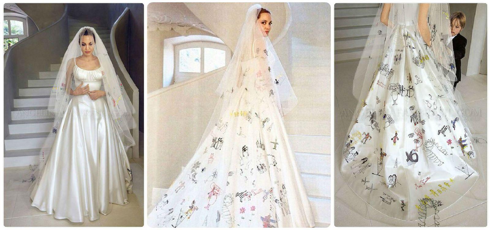 Анджелина джоли платье свадебное