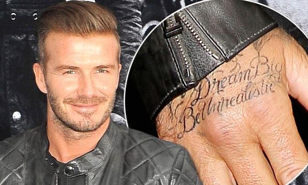 Картина чернилом: Дэвид Бекхэм сделал 41-ую татуировку