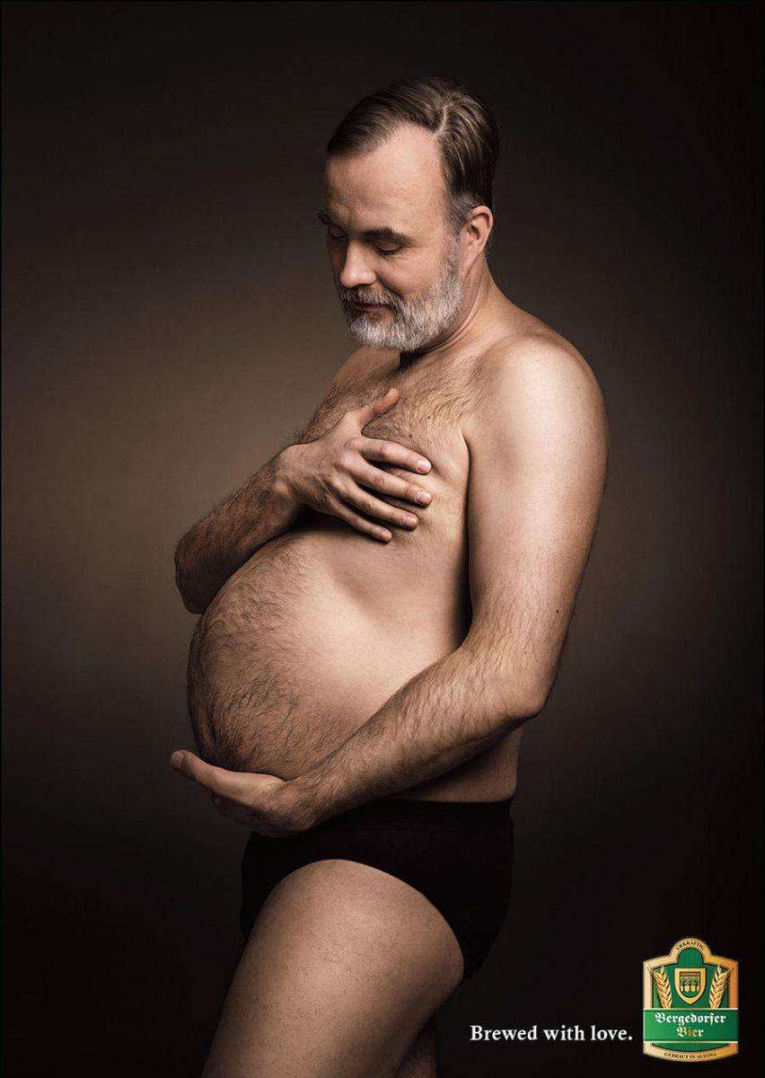 Плод любви: мужчины сбольшими животами пародируют беременных женщин