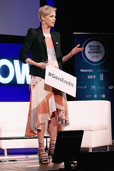 элегантная Шарлиз Терон на Social Good Summit-2015