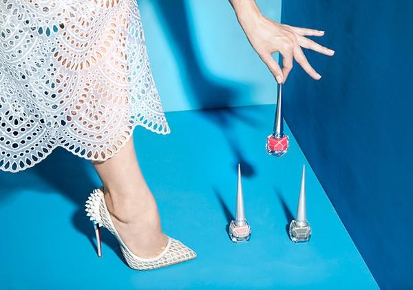 Кристиан Лубутен создал коллекцию свадебной обуви, лаков и помад фото