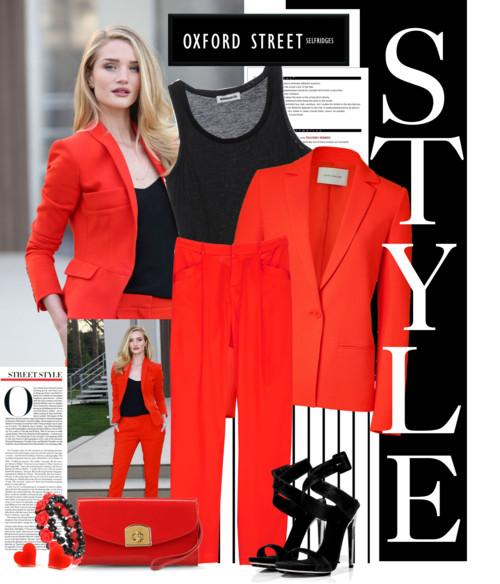 Глубокий красный: в моде вызывающие цвета