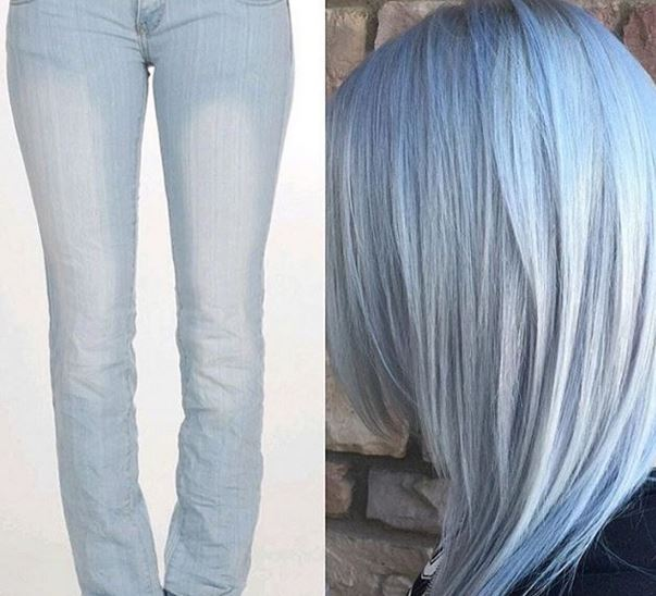 Джинсовые волосы: тренд на denim hair покоряет соцсети фото