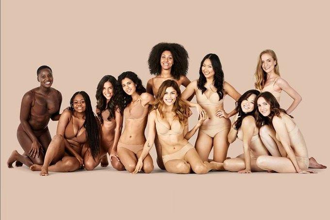 В рекламной кампании нижнего белья для всех цветов кожи снялись обычные женщины