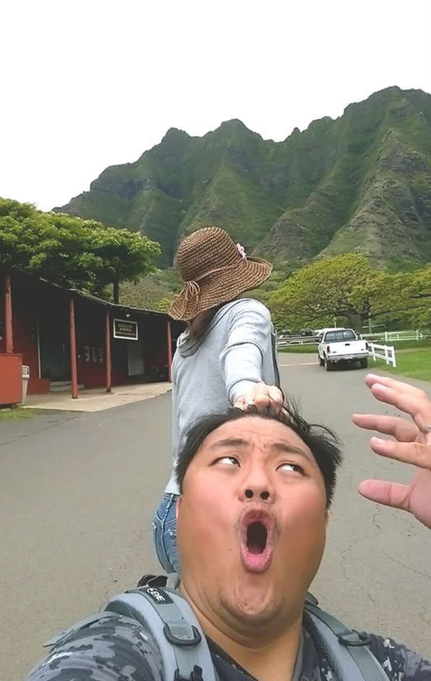 Тайваньские влюбленные забавно спародировали пару путешественников Folow me to