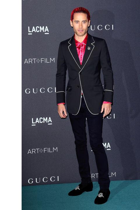 Джаред Лето также выбрал оригинальный костюм от Gucci.