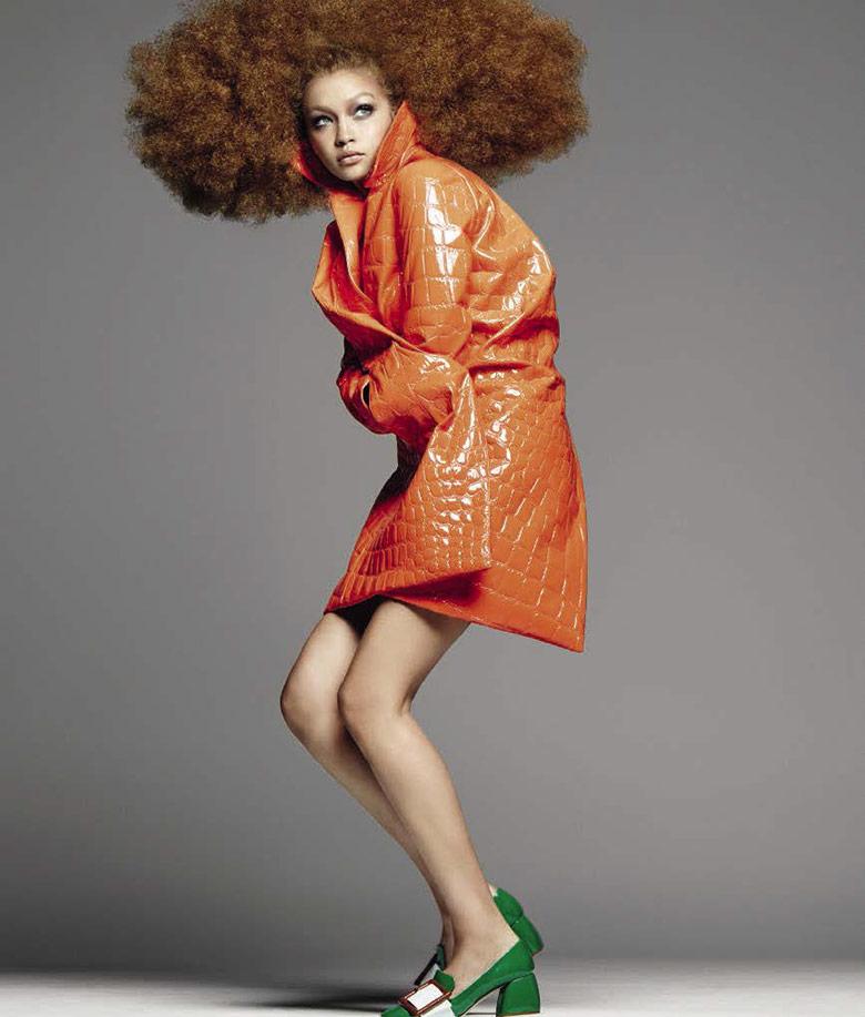 Девочка с шаром: Джиджи Хадид в самой яркой фотосессии для Vogue
