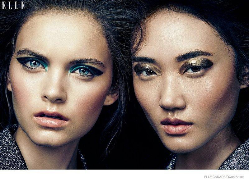 Мерцающий глиттер - трендовый макияж на Новый года 2014