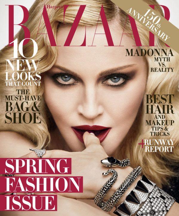 Есть еще порох: Мадонна снялась для обложки Harper's Bazaar Мадонна новая фотосессия, Мадонна фото