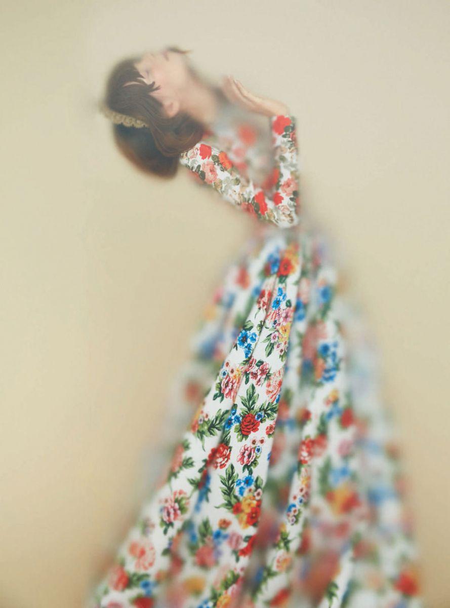 Украинская модель Ирина Кравченко в фотосессии для нового номера британского Harpers Bazaar