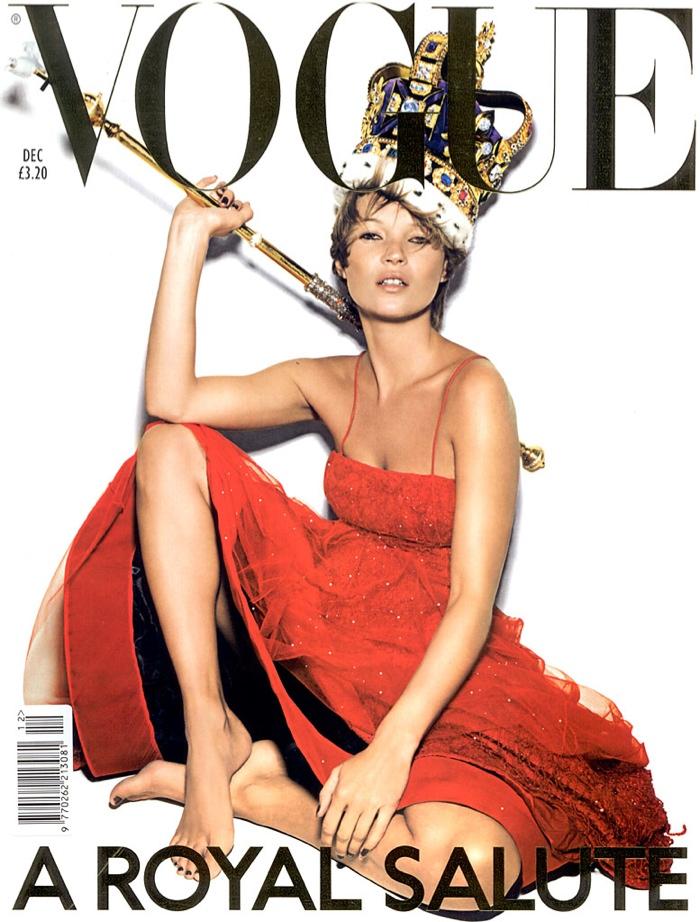 Это победа: Кейт Мосс появилась на обложке британского Vogue рекордный 37-й раз!