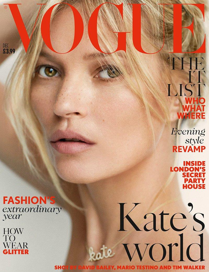 Кейт Мосс захватила сразу две обложки Vogue