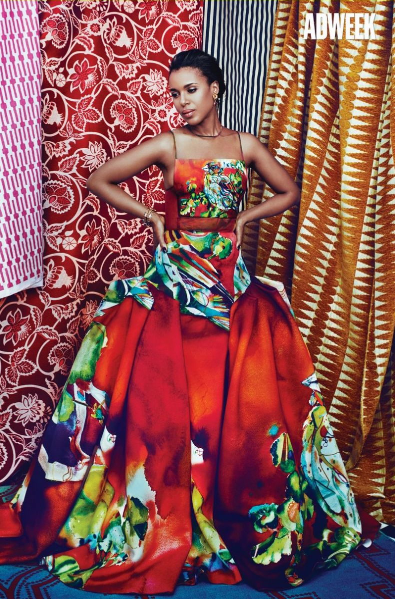Переборщили: актриса Керри Вашингтон удивлена тем, как ее отфотошопили для обложки журнала Adweek