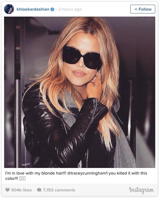 На одну блондинку больше: Хлои Кардашьян кардинально сменила имидж