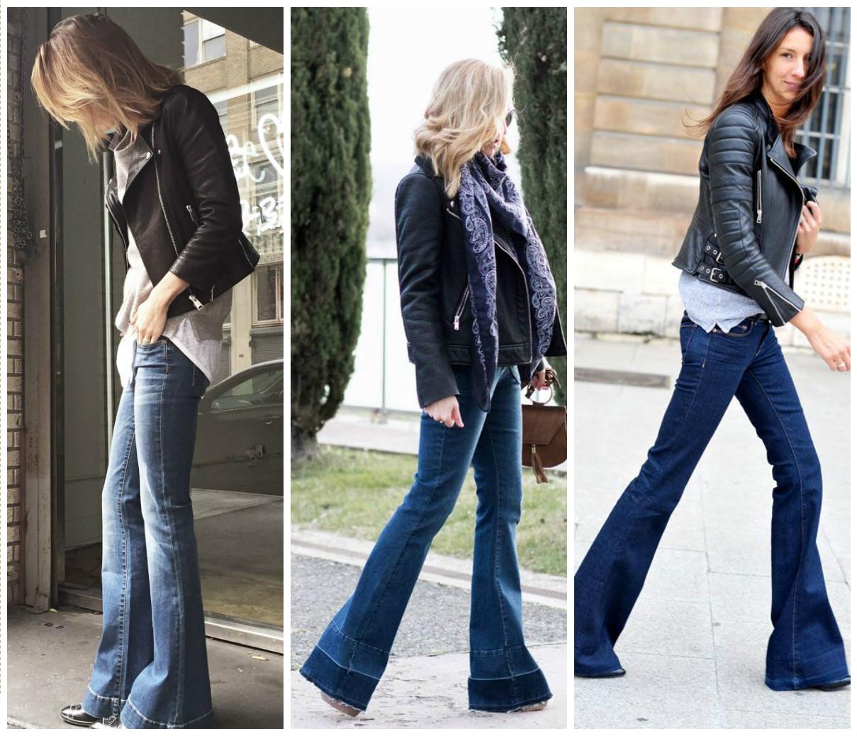 Советы стилиста: с чем носить джинсы-клеш (ФОТО)