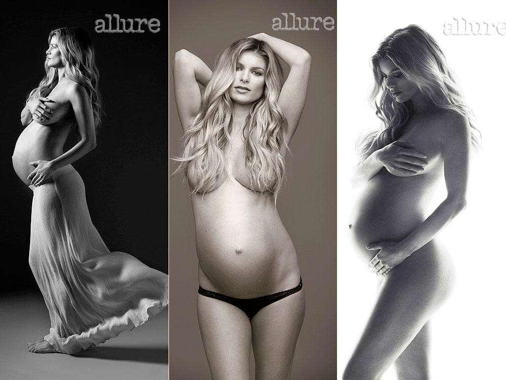 Беременные и обнаженные супермодели фото