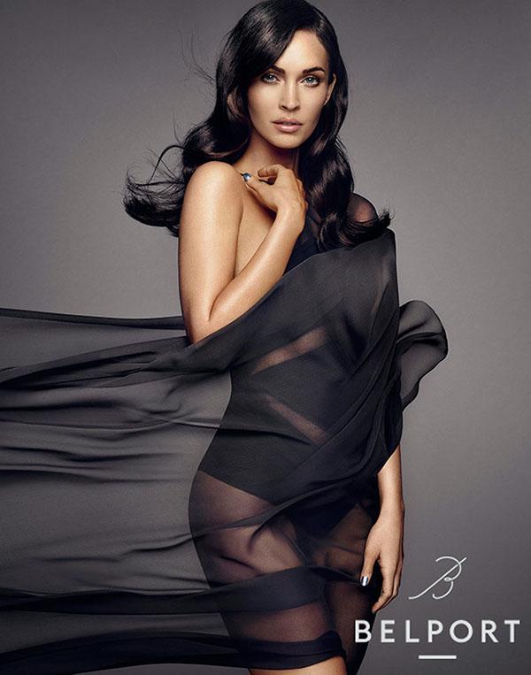 Стройная мамочка: Меган Фокс в черном боди рекламирует косметику