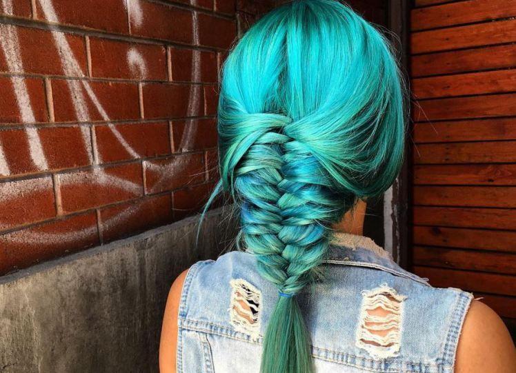 Волосы русалки - тренд, который заставит тебя покраситься в голубой